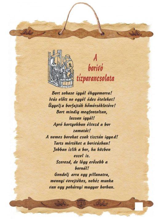 A borivó tízparancsolata I. - fali dekoráció