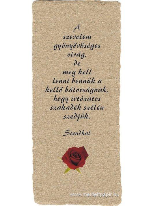 A szerelem gyönyörűséges virág - könyvjelző
